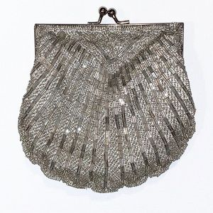 Apt. 9 Silver Beaded Evening Purse